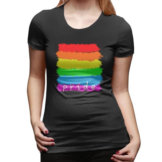 Fashion Cool Design Gay Flag Pride Rainbow T Shirts Women Short Sleeve  Cotton Woman Cltohing Womens Tops d8849bd755