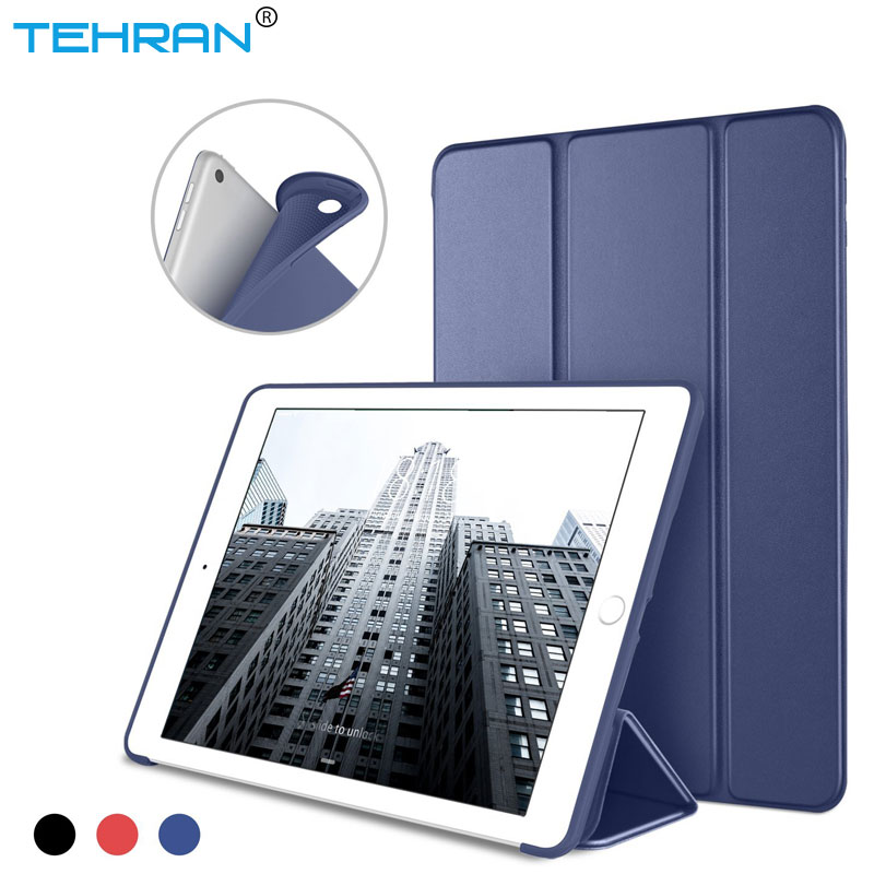For Ipad 2019 Case A1822 A1893 Ultra Slim Silicone Soft TPU Leather Stand Back Cover For Ipad 2019 Case 9.7 Inch