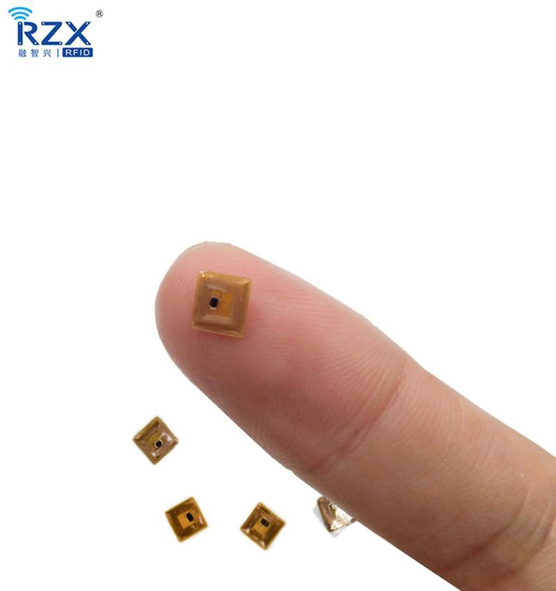 10 шт. программируемый 5*5 мм микро FPC NFC Ntag213 RFID-метка с диапазоном считывания 1 мм
