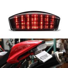 Ironwalls Humo Luz Trasera LED Posterior de la Motocicleta Tailight Correr Freno Gire señal de 12 V Para Ducati Monster 1000 600 620 IE 696 S4R