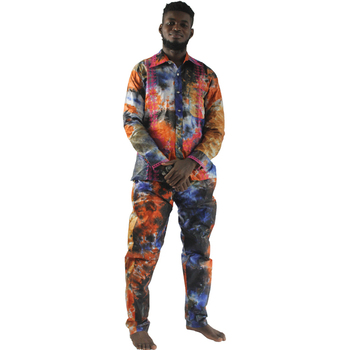 MD traditional african men clothing bazin riche suits for man shirts and pants sets embroidery KC38