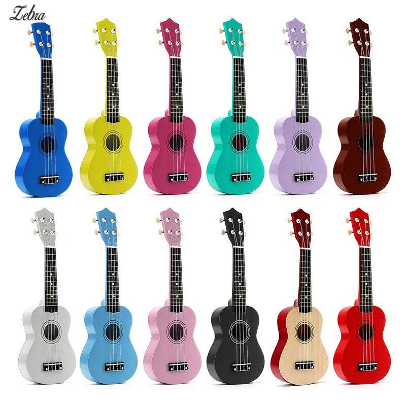 12 colores 21 Soprano ukelele Basswood Nylon 4 cuerdas Guitarra acústica bajo instrumento Musical de cuerda para principiantes