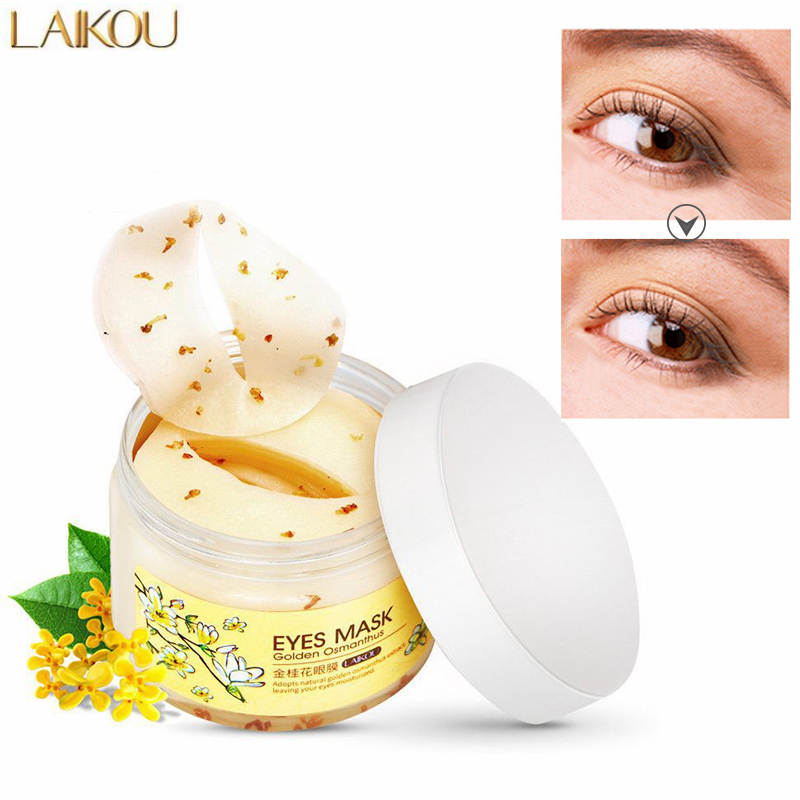Gold Osmanthus Eye Mask Collagen Remove Dark Circles Eye Bags Anti-Aging Eye Care Moisturizing Eye Patches Women Mask Skin Care