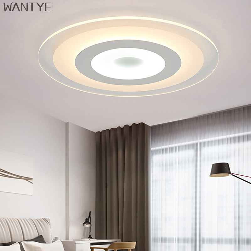 Modern Ceiling light lamp Acrylic Surface Mounted Ceiling lights for Bedroom Living room light Lampara LED techo Indoor lighting noosion modern led ceiling lamp for bedroom room black and white color with crystal plafon techo iluminacion lustre de plafond