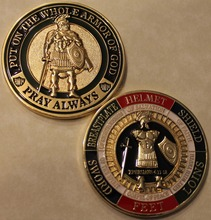 Put on The Whole Armor of God-Pray Always-Military Challenge Coin souvenir art gold plated coins free shipping 10pcslot