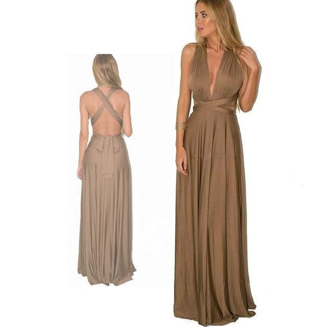 e8a23b3a2f7 Dress Women 2018 Long Summer Convertible Bohemian Dresses Casual Bandage  Evening Prom Club Party Infinity Multiway Maxi Dresses