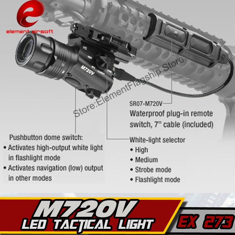 Elemento Airsoft Caça Lanterna Pressão Aumentada M720V
