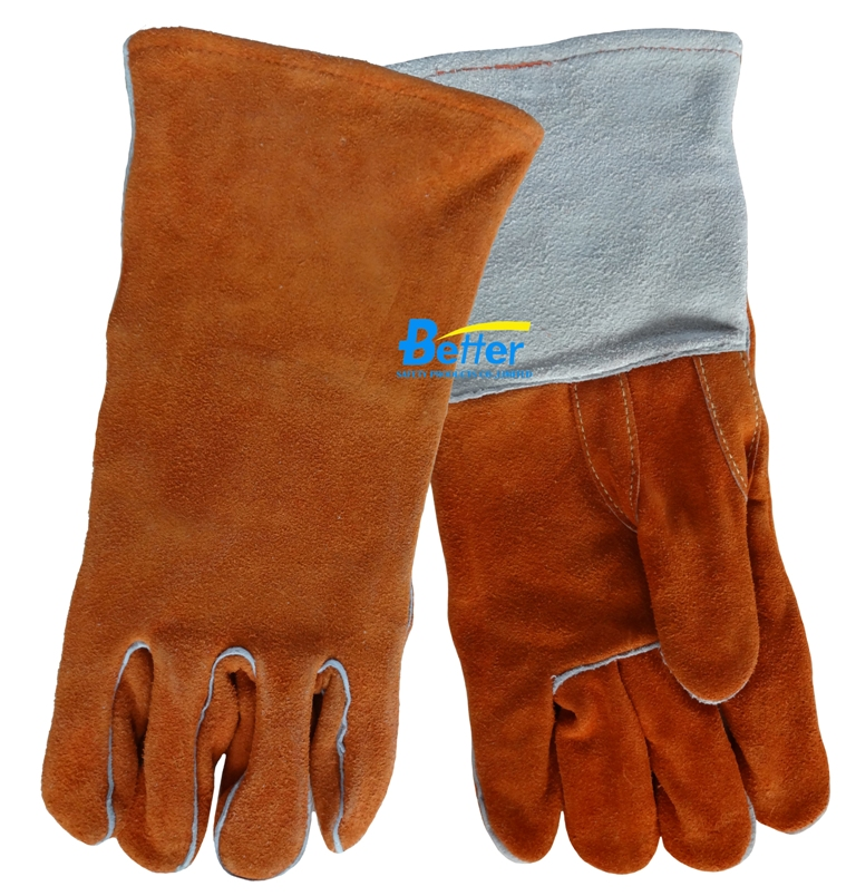 Leather Work Glove TIG MIG Welding Safety Glove Split Cow Leather Deluxe Welder Glove leather safety glove deluxe tig mig leather welding glove comfoflex leather driver work glove