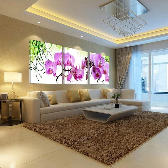 Schlafzimmergestaltung Wand Modernes Schlafzimmer Wand: Bild Wand Öl Moderne 3 Stück Bilder Für Verkauf