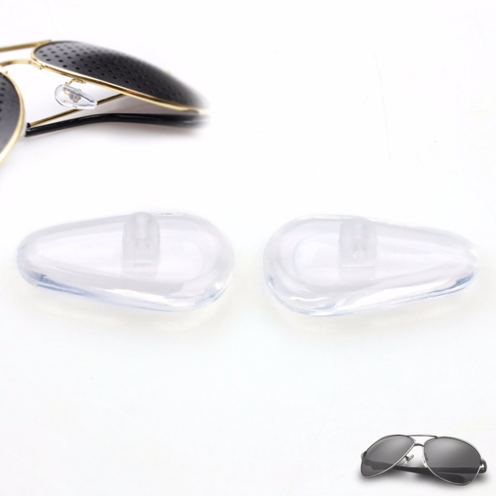 86370d7db279 50Pairs Silicon Soft Stick On Nose Pads For Eyeglass Sunglass Glasses  Nosepad Airbag Repair DIY 100Pcs   50 Pairs