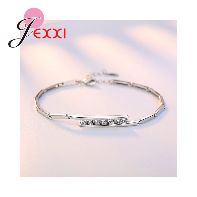 Charm Infinity Three Colors Cuibic Zirconia 925 Sterling Silver Adjustable Exquisite Low Key Female Accessories Bracelet