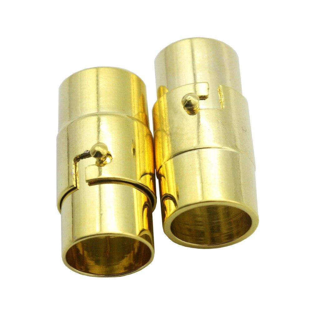 3 комплекта 8 мм Диаметр серебро/золото/античная бронза Магнитная застежка с безопасным бар, 18 мм длинные