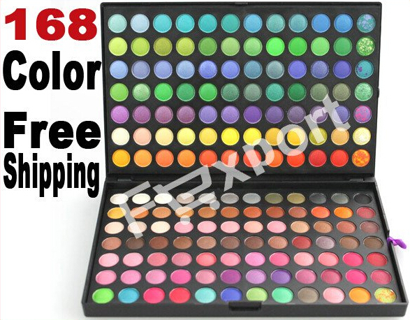 168 Color Eyeshadow Eye Shadow Mineral Cosmetic Professional Makeup Palette Kit professional cosmetic makeup 15 color eye shadow palette black