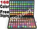 168 Colores de Sombra de Ojos Sombra de Ojos Mineral Cosmético Profesional Del Kit de Maquillaje