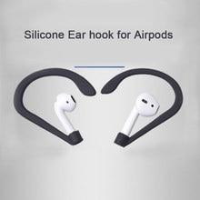 Ganchos 1 pares de Silicone Macio Anti perdido Acessórios Anti slip Gancho do Ouvido Fone de Ouvido para A Apple AirPods