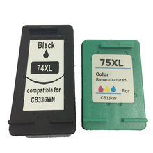 vilaxh 74 75 xl Refilled Ink Cartridge Replacement For HP 74xl 75xl Photosmart C4200 C4280 C4345 C4380 Officejet J5780 J6480
