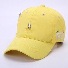 3c8feddbe56a2 Fashion Designer Baseball Cap 2018 Harajuku Cute Women Fruits Embroidery  Snapback Hats Funny Men Adjustable Dad