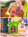 Montessori Juguetes Para Bebés 2 Clases Usan El Botón De Madera Juguetes Educativos Bordo Threading Bloques de Cuentas Niño Regalo de Cumpleaños