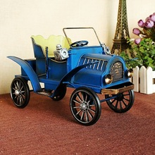 Metal manual classic car model Car model, 19th century Two colors optional 1216 antique home decor