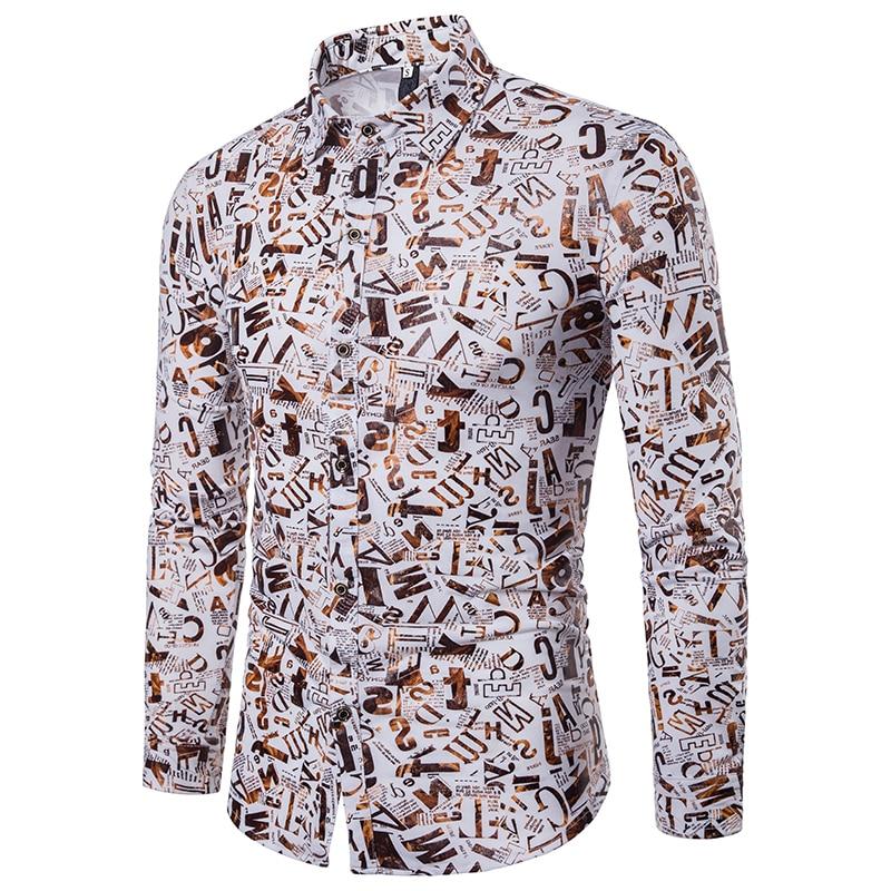 Рубашка с принтом дизайнерская рубашка с рисунком Camisa Social Masculina стильная рубашка для мужчин вечерние Клубные уникальная рубашка Slim Fit
