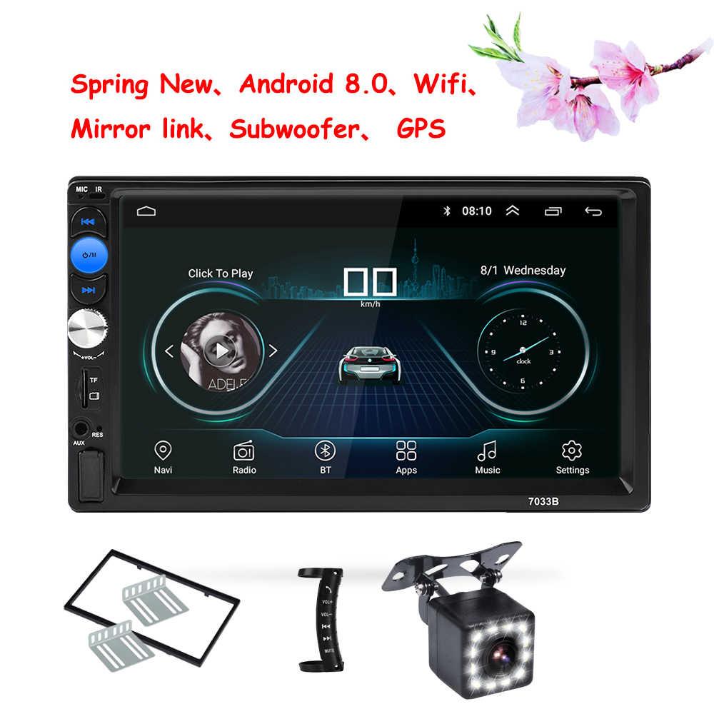 "2din Auto-Player Android 8.0 universal Auto Radio 7 ""2 din auto radio gps android GPS NAVIGATION WIFI Bluetooth MP5 player"