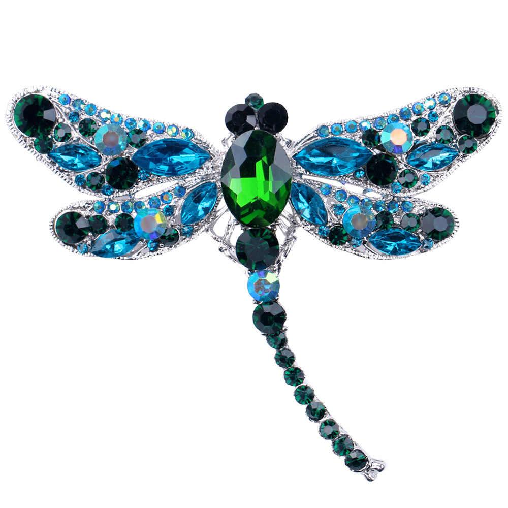 Emaye kelebek Bragonfly kuş yengeç broş erkekler ve kadınlar için Metal taklidi böcekler ziyafet düğün buket broş hediyeler