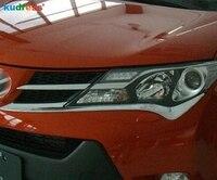 Für Toyota RAV4 RAV 4 2013 2014 Hohe Qualität ABS Chrom Front Scheinwerfer Augenbraue Dekoration Borte Kopf Licht Lampe Abdeckung trim 2 stücke