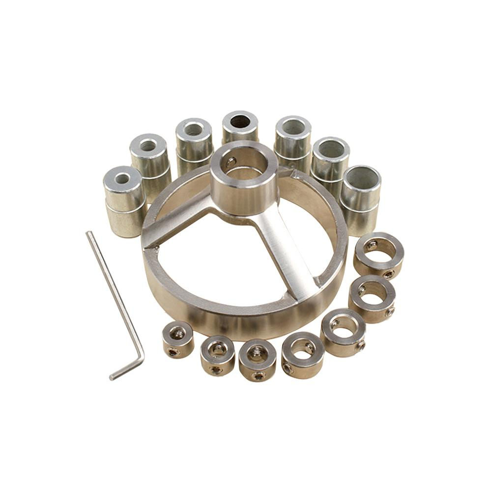 16 Piece Woodworking Straight Hole Drilling Locator Round Pin Special Drilling Aid Set Stainless Steel Straight Hole Locator недорого
