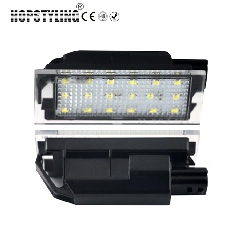 2pcs Car LED Number License Plate Light Direce Replacement Lamp For Renault Clio Megane Twingo II Lagane II5D Vel Satis Master 2pcs 12v white led license plate light number lamp for renault twingo clio megane lagane error free
