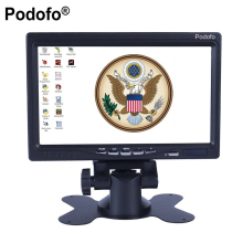 Podofo 7″ HD LCD Mini Computer & TV Display CCTV Security Surveillance Screen Car Rear View Monitor, HDMI / VGA / Video / Audio