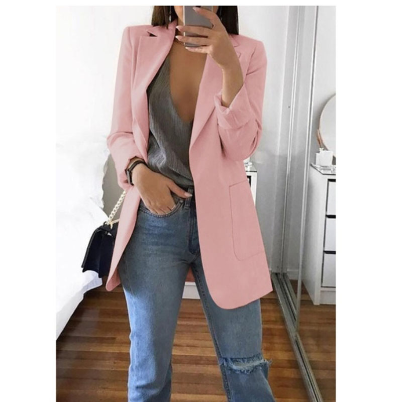 2019 Spring Blazer Jackets For Women European Style Fashion Work Style Suit Ladies Blazer Long Sleeve Blazer Outerwear