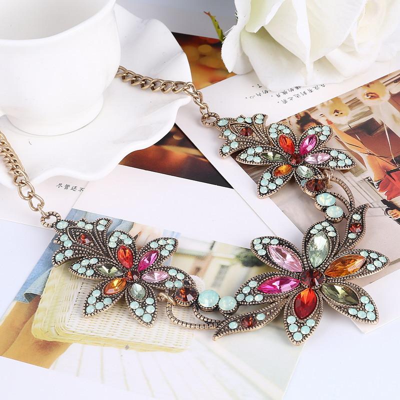 19 Fashion Designer Chain Choker Statement Necklace Women Necklace Bib Necklaces & Pendants Gold Silver Chain Vintage Jewelry 9