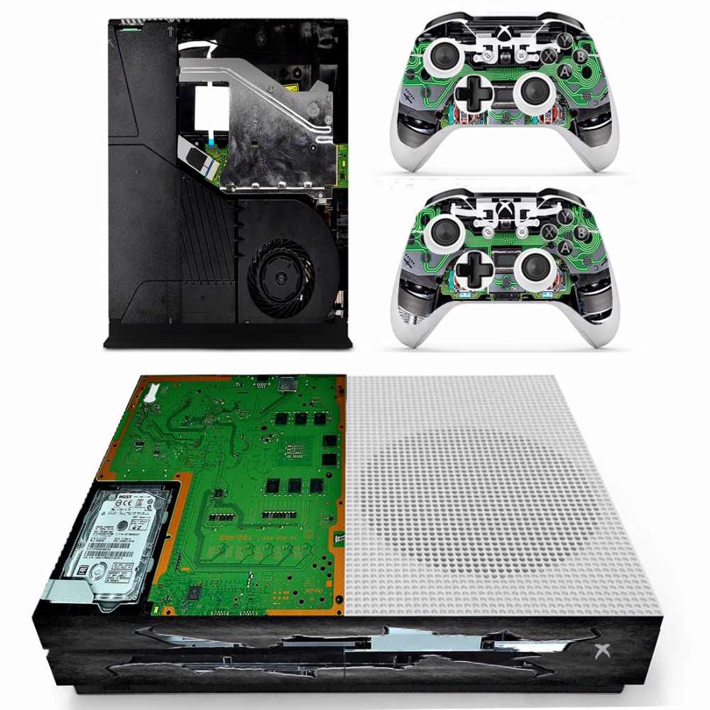 circuit diagram vinly skin sticker decals for xbox one s console with two wireless controller skin [ 1000 x 1000 Pixel ]