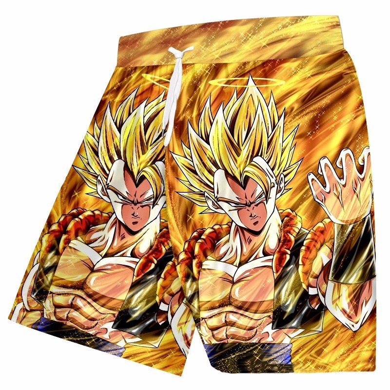 OGKB New Arrival Men's Beach Shorts Funny Print Dragon Ball Figure 3D Board Bermuda Shorts Man Fitness Elastic Waist Trousers