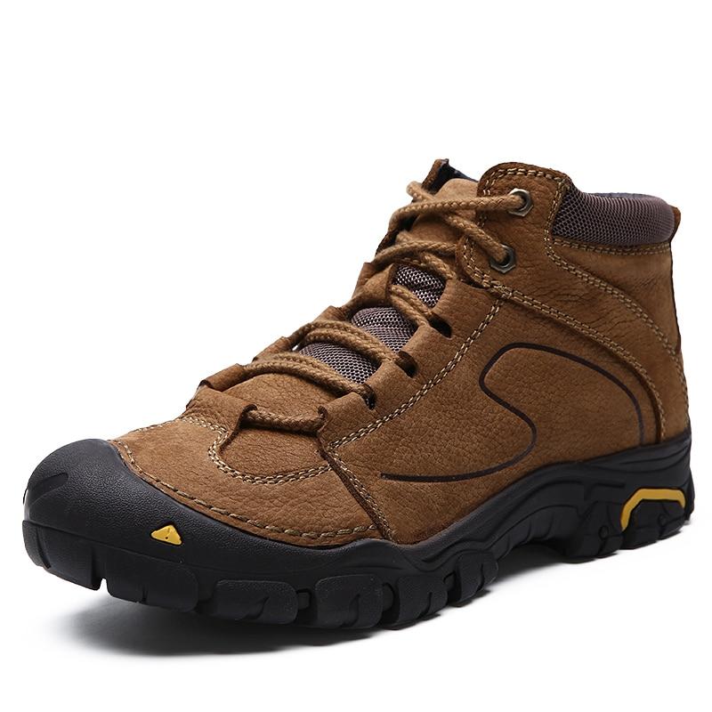 576173c0e83 Hot Sale] Genuine Leather Hiking Shoes Men's Waterproof Trekking ...