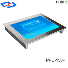 """Lage Kosten All In One Fanless 15 """"Touch Screen Embedded Industriële Panel PC Met Resolutie 1024x768 Voor factory Automation Tablet"""