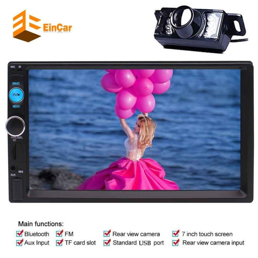 2 Din In Dash Car headunit Stereo MP5 Player 7  Capacitive Multi-Touch Screen FM Radio Video no-dvd USB/SD/TFT Rear View Camera double 2 din car autoradio stereo headunit 6 2 multi touch capacitive screen car dvd cd player mp3 mp4 usb tf bluetooth aux