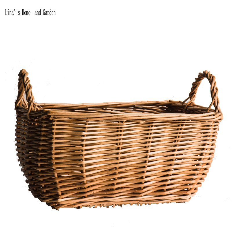 Natural Finish Hand Made Small Wicker Baskets With Side Handles In Storage From Home Garden On Aliexpress Alibaba Group