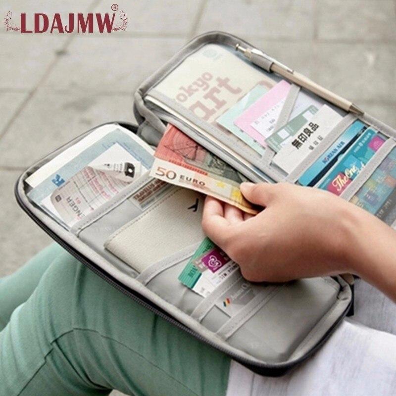 LDAJMW Capa de Passaporte de Viagem Carteira Travelus Multifunções Pacote de Cartão de Crédito ID Organizador Titular De Armazenamento de Embreagem Saco de Dinheiro
