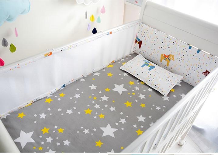 Promotion! 5PCS Mesh Baby Bedding Set For Boy Girl Baby Crib Bedding Sets Baby Cot Bumper Baby Cot Set,include(4bumpers+sheet) детское постельное белье baby bedding sets baby baby babedding set boy