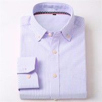 11 oxford New Brand Men Shirt Spring Fashion Full Mens Oxford cotton Dot Button Down Collar Slim Fit Casual Shirts LC001
