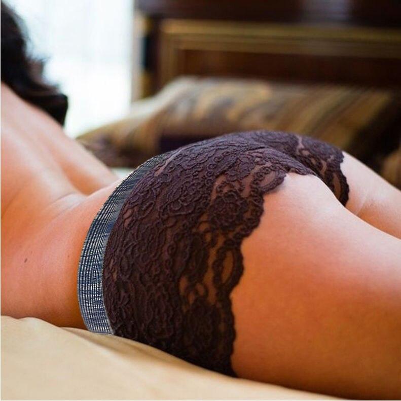 Spitze Shorts Frauen Hohe Taille Transparente Skinny Shorts Schwarz - Damenbekleidung - Foto 3