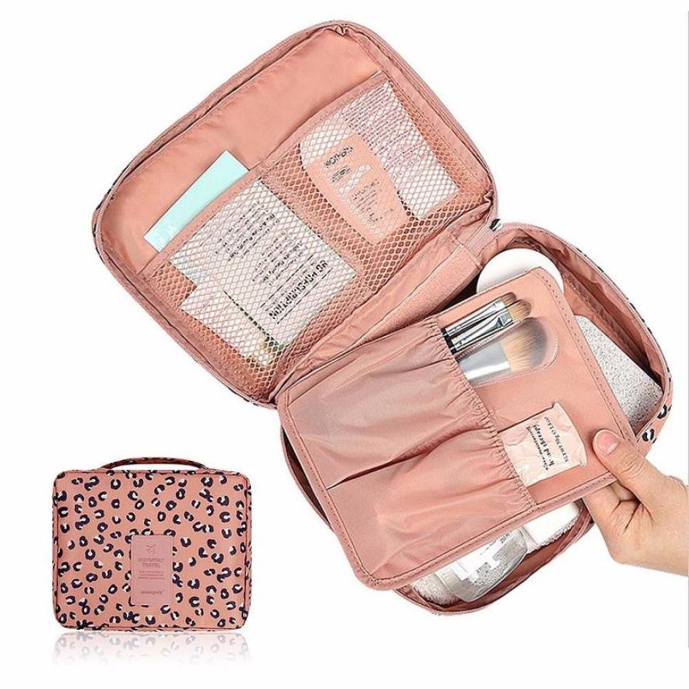 87182be757 διοργανωτής ταξίδια μόδα κυρία Leopard καλλυντικά τσάντα αποθήκευσης ...