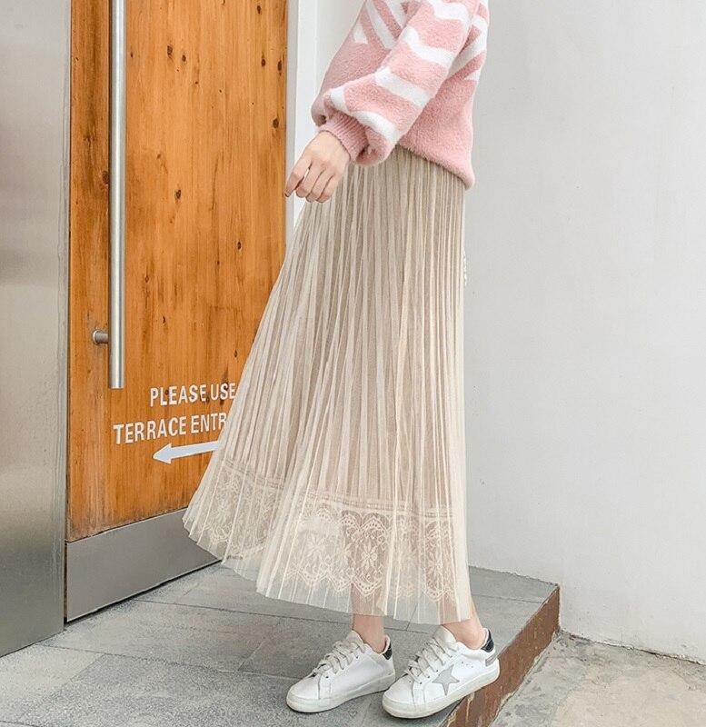 Средства ухода за кожей для будущих мам одежда беременных женщин нежный ветер плиссированная юбка в длинный живот Лифт регулируемый ошейник для собак - Цвет: apricot