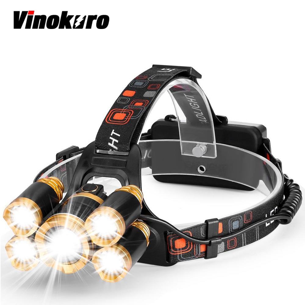 Vinokuro LED Headlamp CREE-XML-T6 5 LED Headlamp15000 Lumens4 mode Waterproof for fishing camping cycling running sitemap 43 xml