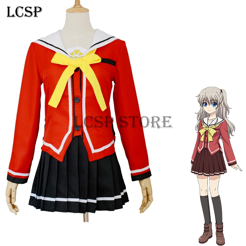 Anime Costumes Adroit Lcsp Charlotte Tomori Nao Cosplay Costumes Japanese Anime Adult Girl School Uniform Suit Outfit Clothes