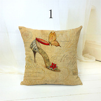 Decorative cushion covers high-heeled shoe design polyester throw pillow cover home decor funda cojines decorativos