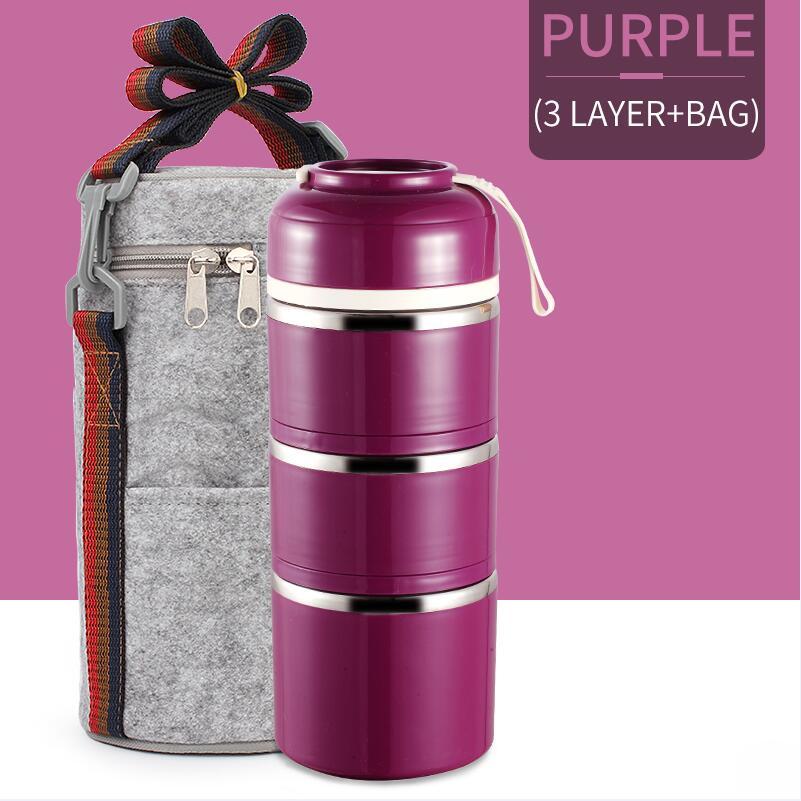Purple 3 With Bag