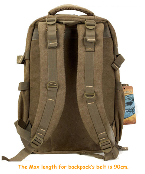 AERLIS Canvas BackPack, Extremely Durable, Multi-Storage Bag, For Multi-tasking People, Colors: Black Khaki Army green