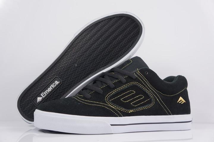 2016 teenager boy Shoes Emerica Reynolds 3 Board Shoes Black Anti-Fur Rubber Hard-Wearing Footwear
